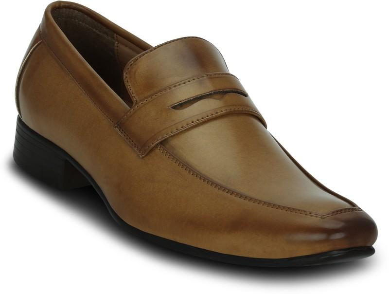 Kielz Tan-Slip-On Shoes Slip On Sneakers For Men(Tan)