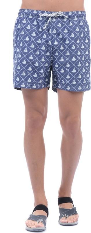 Gant Printed Men Blue, White Basic Shorts