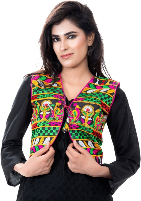 Banjara India Sleeveless Embroidered Women's NA Jacket