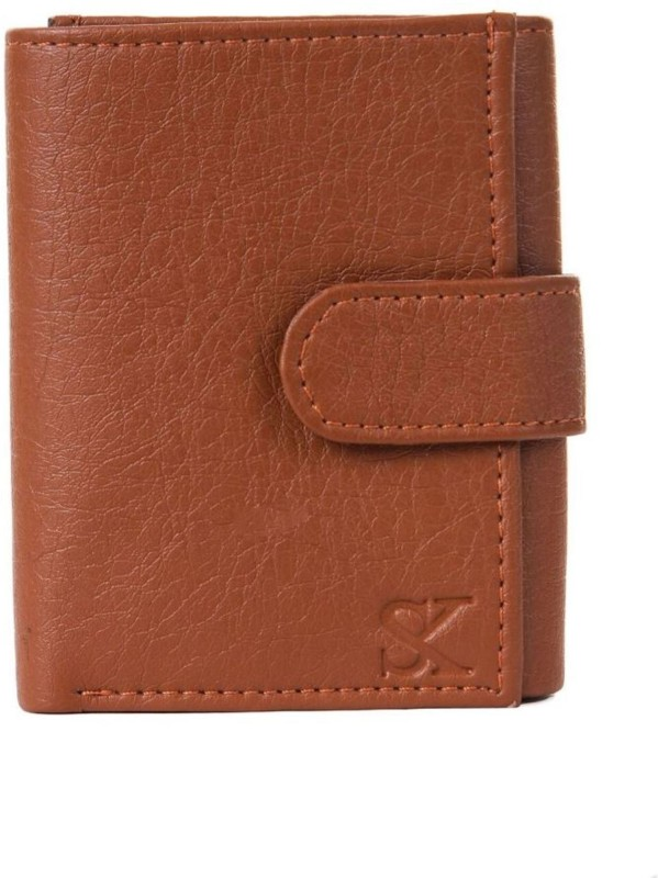 Styler King Men Tan Artificial Leather Wallet(4 Card Slots)