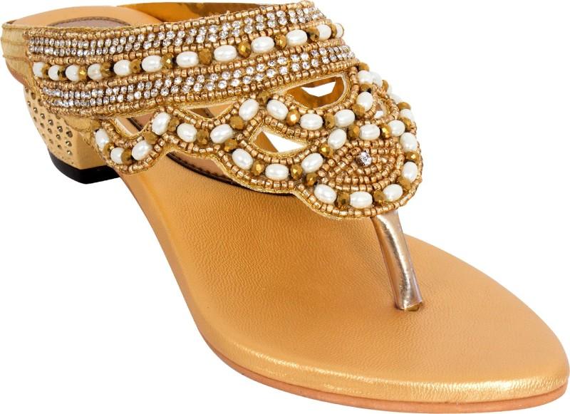 Nihar Girls Slip-on Heels(Multicolor)