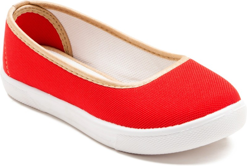 OMAIDEN The First Step Girls Slip on Ballerinas(Red)