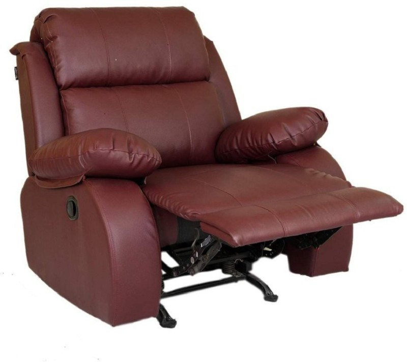 innovate Leatherette Manual Rocker Recliners(Finish Color - burgundy)