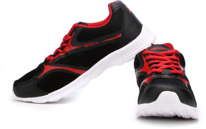 Sparx 510 Running Shoes For Women(Black, Red)