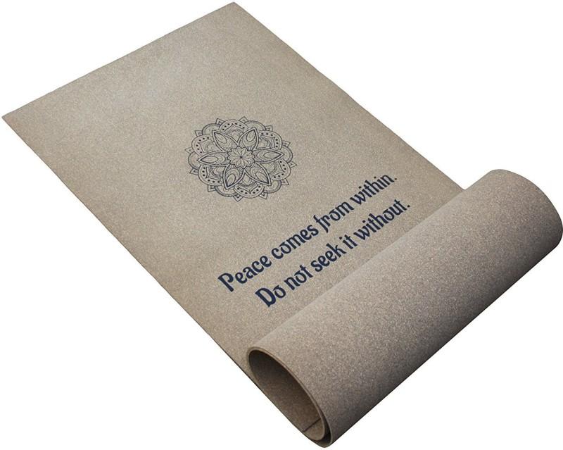 Eco Corner 4162 Mandala Cork Yoga Mat Brown 6 mm Yoga Mat