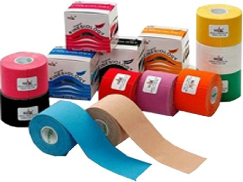 acco acco Kinesiology Tape Set of 6Pcs Injury Tape(Multicolor)