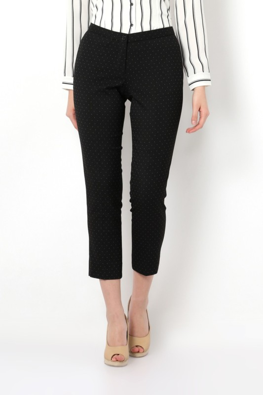 Van Heusen Regular Fit Women Black Trousers
