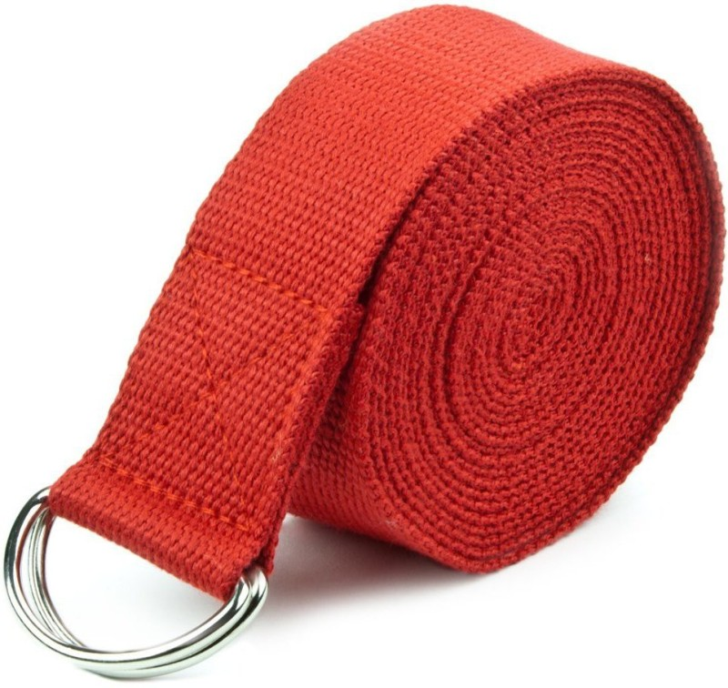 Ipop Retail 6 FEET RED Cotton Yoga Strap(Red)