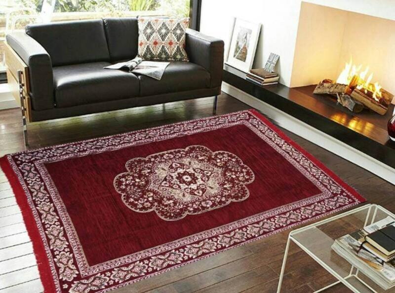 home BEST Multicolor Chenille Carpet(150 cm  X 210 cm)
