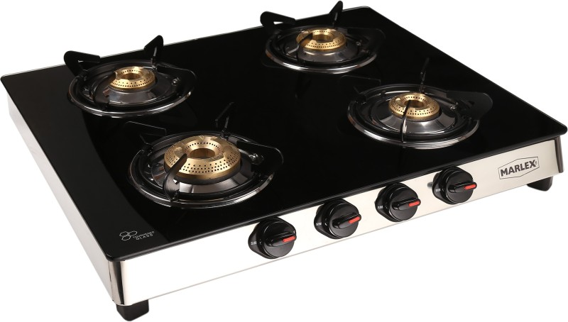 Marlex Classic 4 Burner Glass Manual Gas Stove(4 Burners)