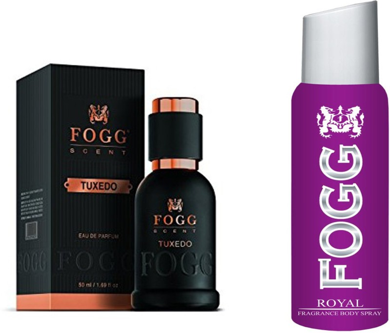 FOGG TUXEDO PERFUME 50 ml + ROYAL DEODORANT BADY SPRAY Perfume - 120 ml(For Men)