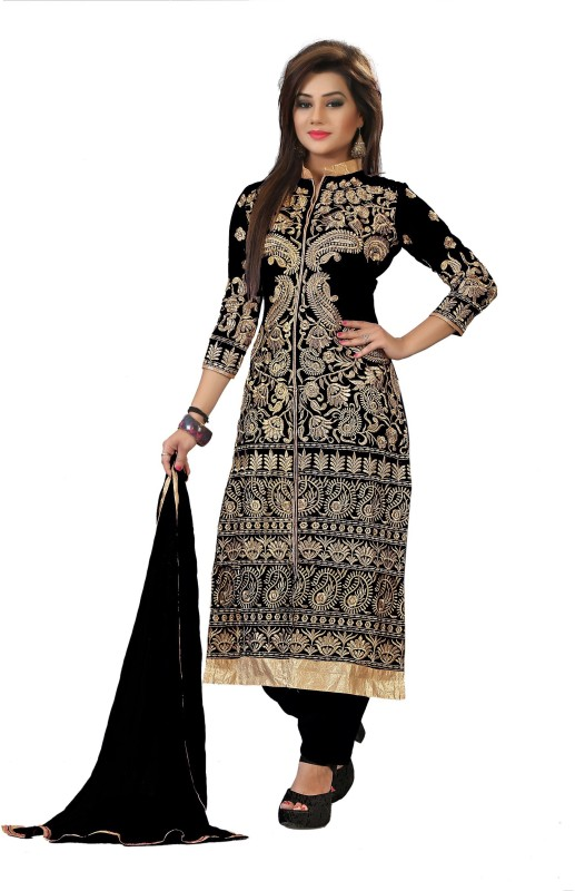 Shree Hans Creation Georgette Embroidered Salwar Suit Dupatta Material(Un-stitched)