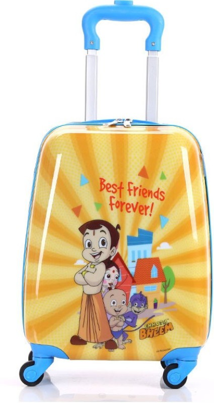 Fortune Chhota Bheem 17 Inch Luggage Travel Trolley Bag Cabin Luggage - 17 inch(Yellow)