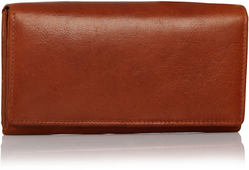 Leather Zentrum Women Tan Genuine Leather Wallet(7 Card Slots)