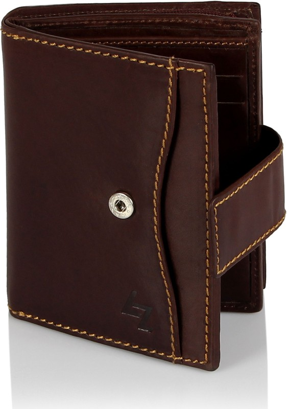 Leather Zentrum Women Brown Genuine Leather Wallet(7 Card Slots)