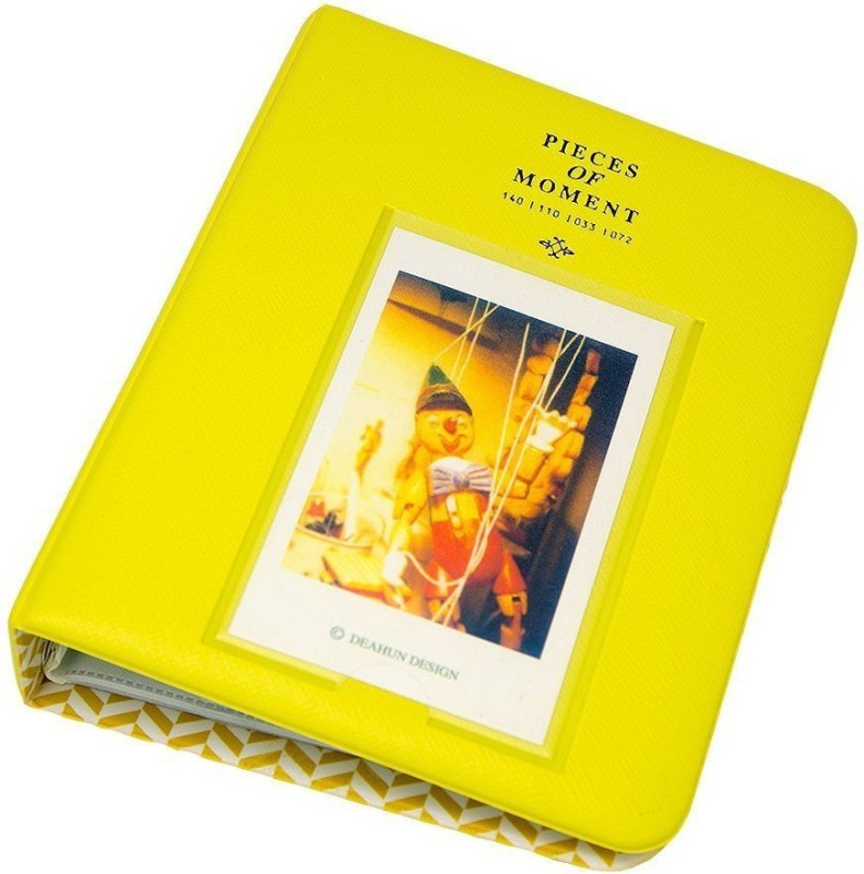 Caiul 64 Pockets Photo Album for Mini Fuji Instax Mini , Polaroid & Name Card Album(Photo Size Supported: 1.8 inch x2.4 inch)