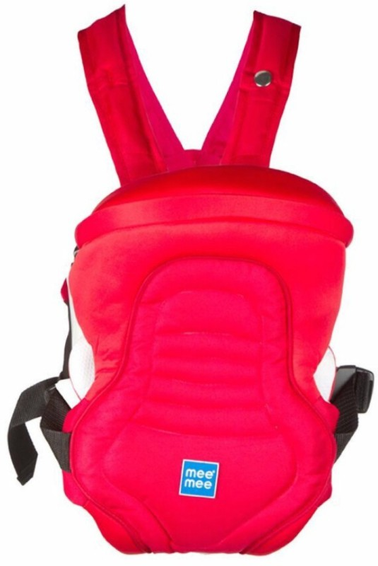 Meemee 6 Position Premium Baby Carrier(Red, Front Carry facing in)
