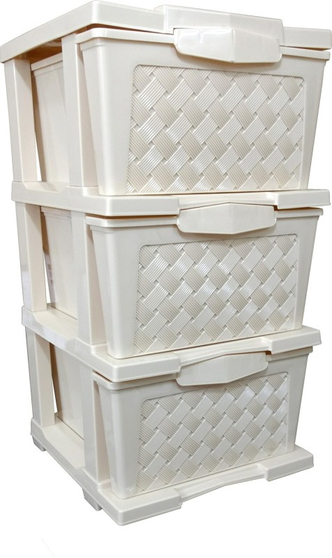 La Corsa Cargo 3 Plastic Free Standing Chest of Drawers(Finish Color - Yellow)
