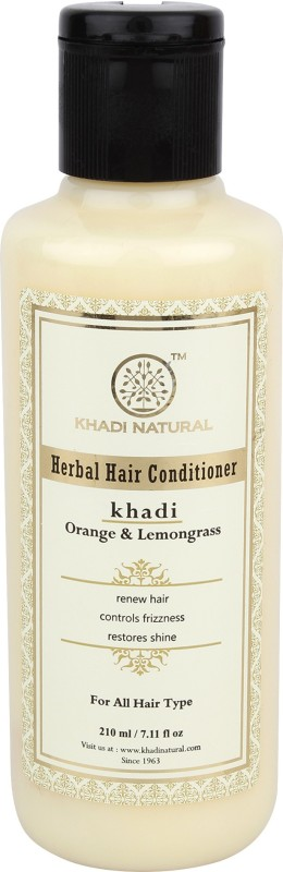 Khadi Natural Orange & Lemongrass Conditioner Pack of 2(420 ml)