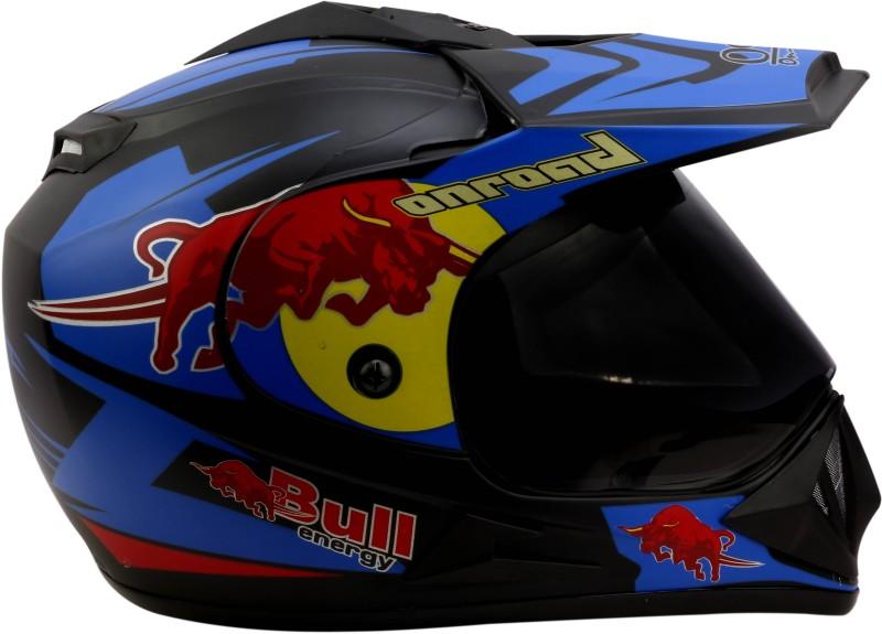 O2 BLUE ONROAD Motorbike Helmet(Black)