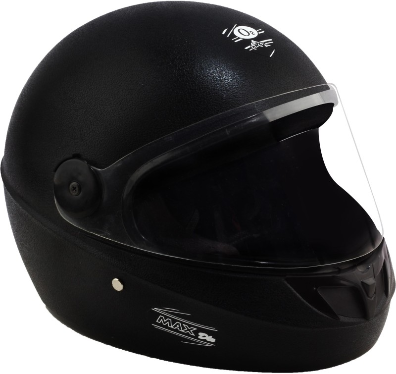 O2 BLACK MAX DELUX Motorbike Helmet(Black)