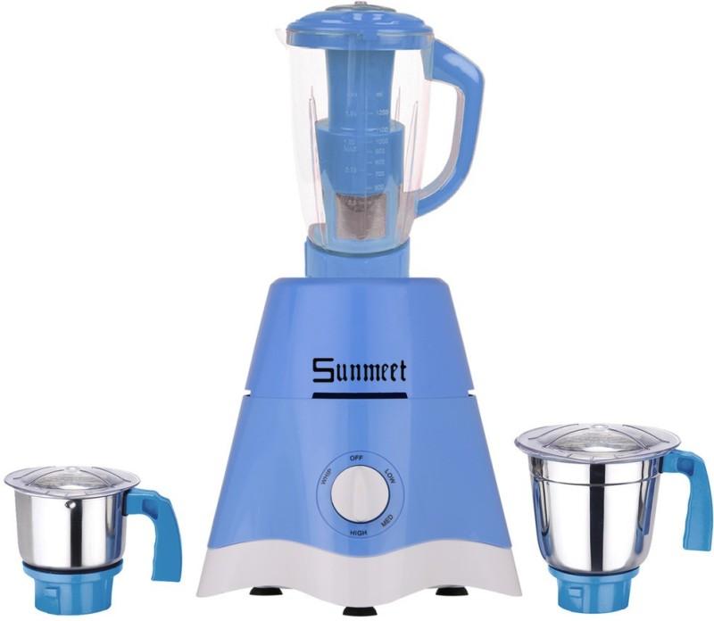 Sunmeet MG17-TA-STR-207 600 Juicer Mixer Grinder(Blue, 3 Jars)