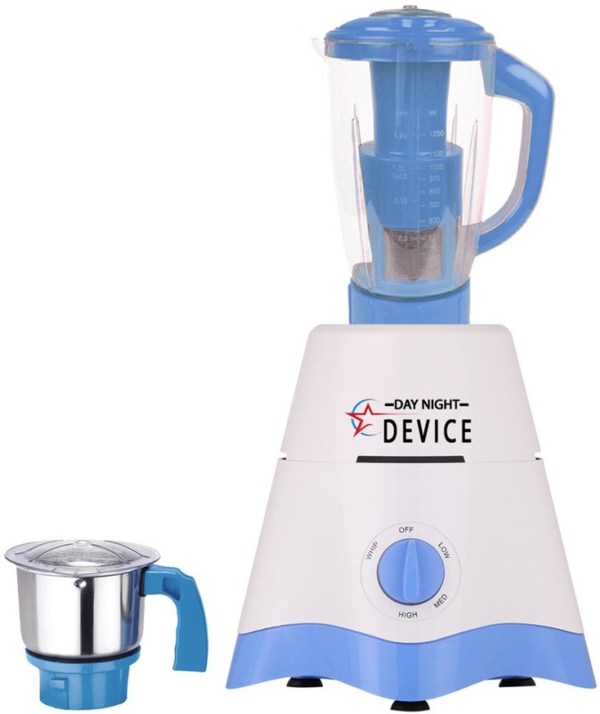 Day-Night Star Device TA Star MG17-TA-STR-259 600 W Juicer Mixer Grinder(White, Blue, 2 Jars)
