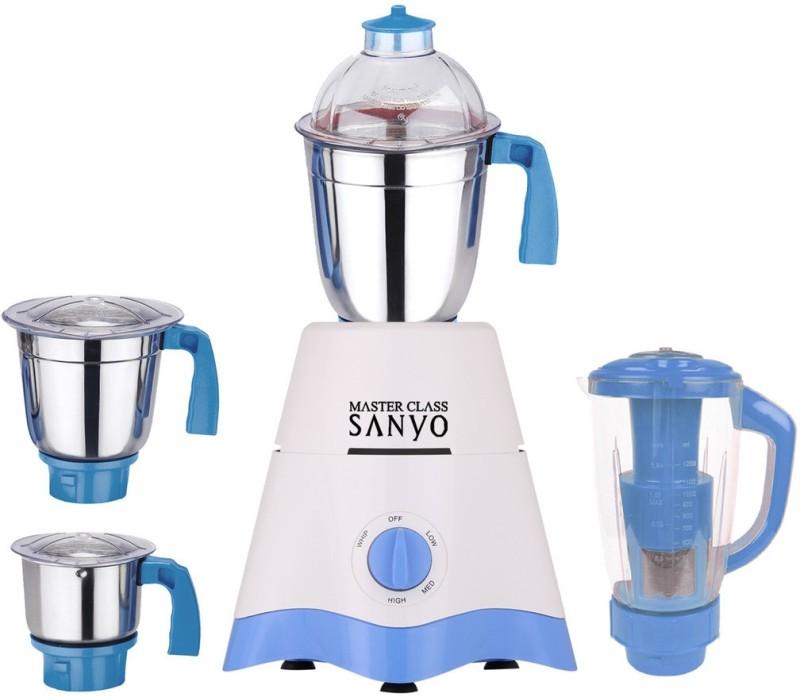 MasterClass Sanyo TA Star MG17-TA-STR-304 600 W Juicer Mixer Grinder(White, Blue, 4 Jars)