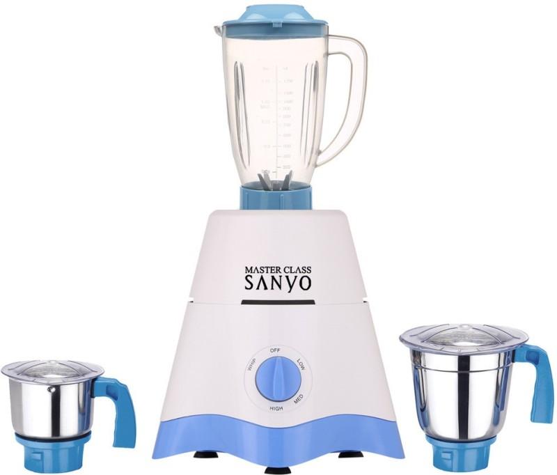 MasterClass Sanyo TA Star MG17-TA-STR-294 600 W Juicer Mixer Grinder(White, Blue, 3 Jars)