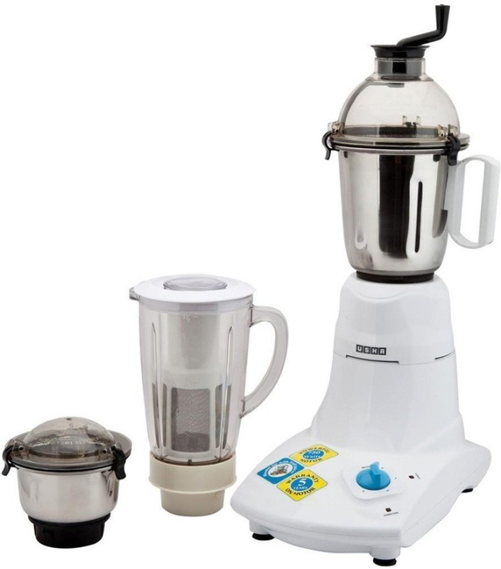 Usha MG2573 750 W Mixer Grinder(White, 3 Jars)