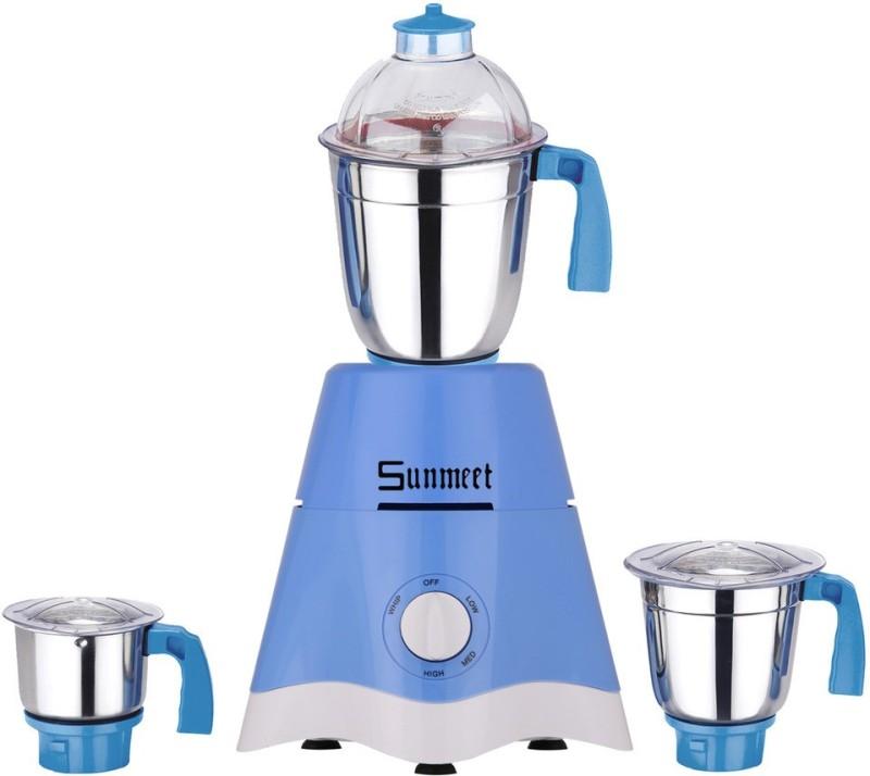 Sunmeet MG17-TA-STR-197 600 Mixer Grinder(Blue, 3 Jars)
