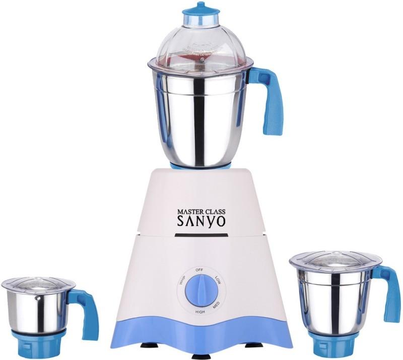 MasterClass Sanyo TA Star MG17-TA-STR-274 600 W Mixer Grinder(White, Blue, 3 Jars)