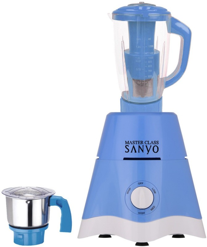 MasterClass Sanyo TA Star MG17-TA-STR-174 600 W Juicer Mixer Grinder(Blue, 2 Jars)