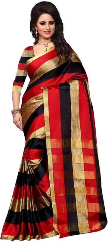 Jhilmil Fashion Self Design Bollywood Cotton Saree(Multicolor)