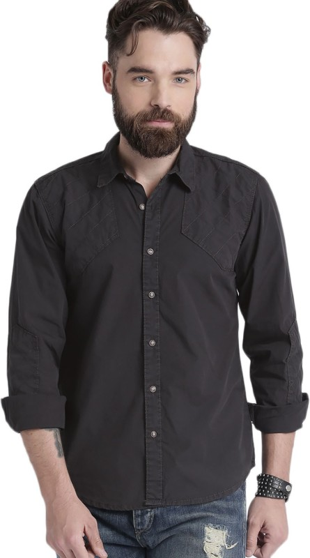 Roadster Men Solid Casual Grey Shirt