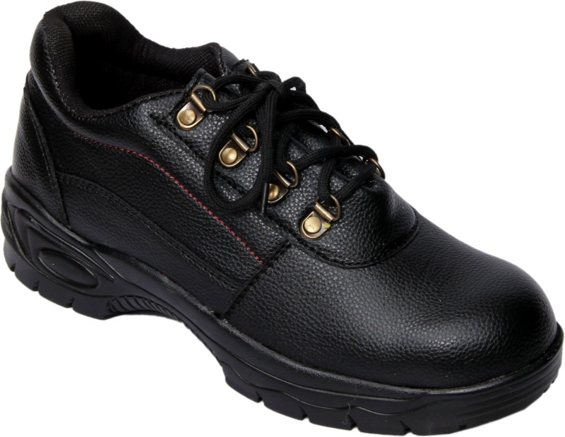 Ramzee Safety Shoes Steel Toe Boots(Black)