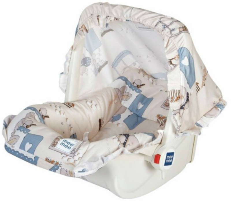Meemee 5 in 1 Baby Cozy Carry Cot Cum Rocker(Beige, Blue)