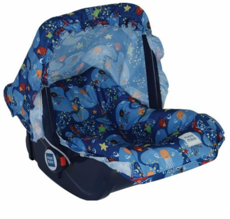 Meemee 5 in 1 Baby Cozy Carry Cot Cum Rocker(Blue)