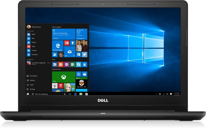 Dell  Laptop  Intel Core i3 4 GB RAM Windows 10 Home