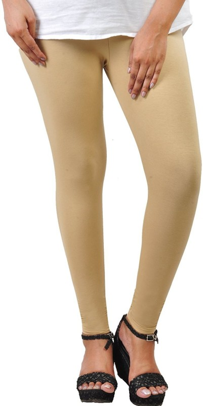 Comfort Lady Ankle Length  Legging(Beige, Solid)