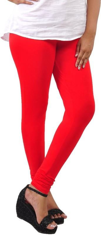 Comfort Lady Churidar  Legging(Red, Solid)