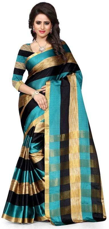 Jhilmil Fashion Self Design Fashion Cotton Saree(Multicolor)