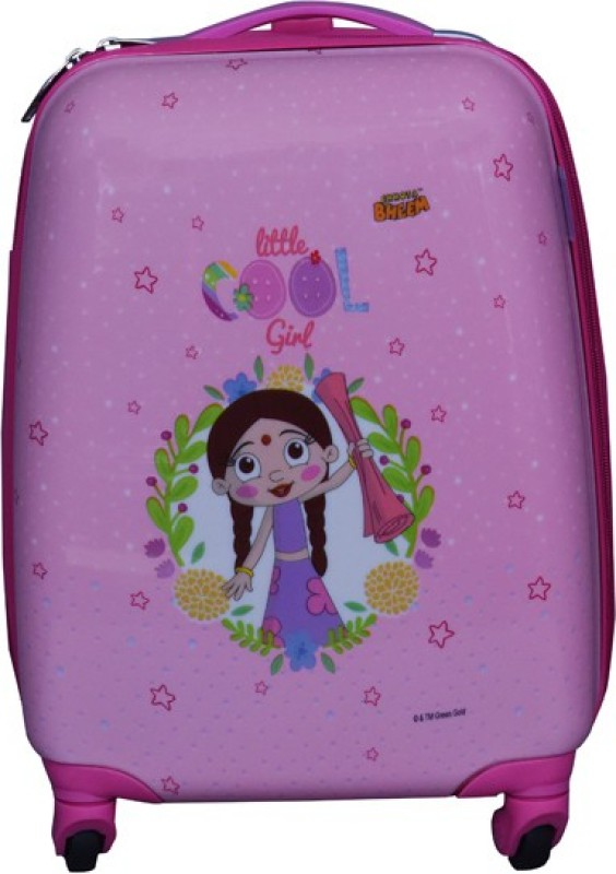 Fortune Chhota Bheem Chutki Little Cool Girl Luggage Trolley Bag Cabin Luggage - 17 inch(Pink)