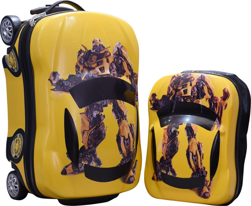 Fortune Kids Car Shape Cabin Luggage - 18 inch(Yellow)