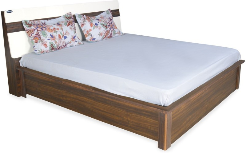 Nilkamal Lodgy Engineered Wood King Bed With Storage(Finish Color - Brown)