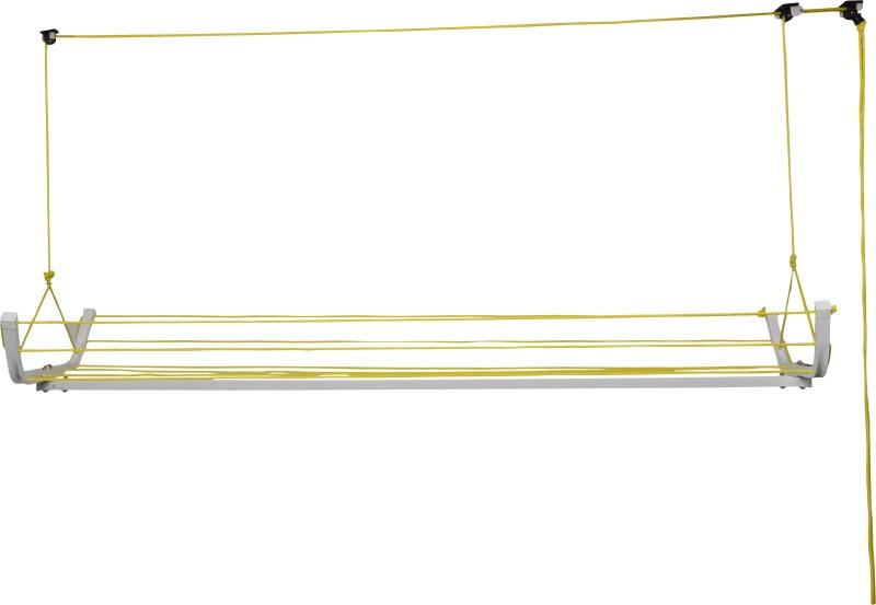 """Pull 'n' Dry Pull """"n"""" Dry Hanger Rope Model 6Ft Aluminium Ceiling Cloth Dryer Stand(White)"""