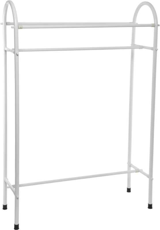 Pull 'n' Dry Pull 'n' Dry Used Clothes Stand 2 ft Steel Floor Cloth Dryer Stand(White)