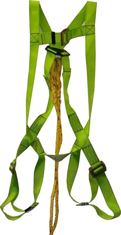 heapro SAFETY HARNESS SINGLE LANYARD (HOOK) 1.8 MTR KARABINE HOOK FULL BODY HARNESS Full Body Harness(Free Size)