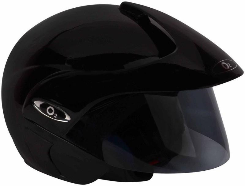O2 OPEN FACE BLACK Motorbike Helmet(Black)