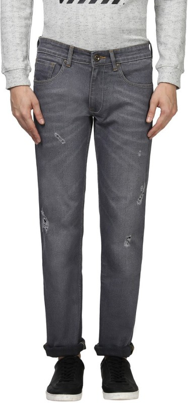 Park Avenue Slim Men Grey Jeans